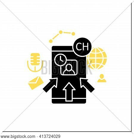 Rapid Popularity Glyph Icon. Rapid Growth User Popularity.arrows Point To Moderator. Communication C