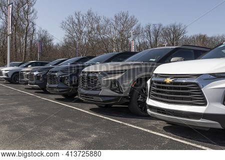 Noblesville - Circa March 2021: Chevrolet Car And Suv Dealership. Chevy Is A Division Of General Mot