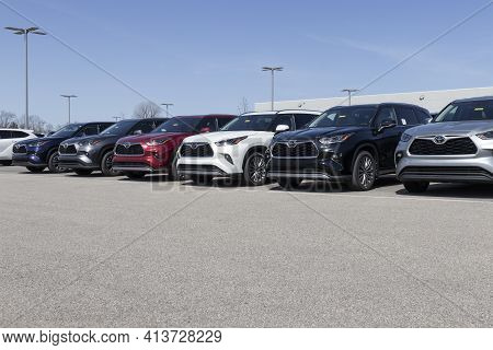 Noblesville - Circa March 2021: Toyota Car And Suv Display. Toyota Is A Popular Brand Among Auto Buy