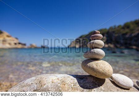 Beach Of Cala D\'en Serra In Ibiza (spain)