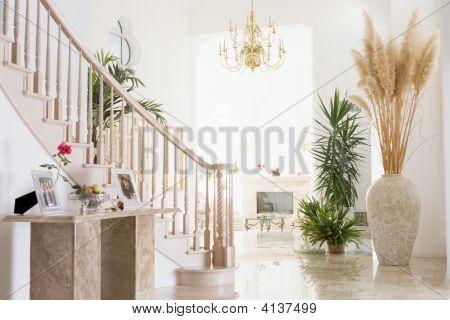 Empty Hallway In Luxurious Home