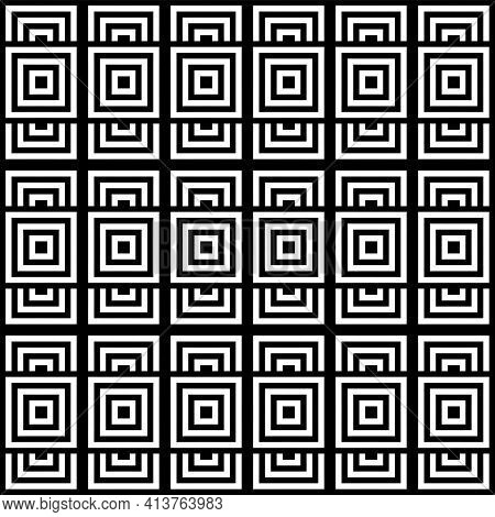 Abstract Seamless Geometric Squares Pattern. Vector Art.