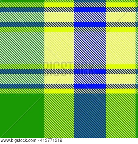 Yellow Ombre Plaid Textured Seamless Pattern