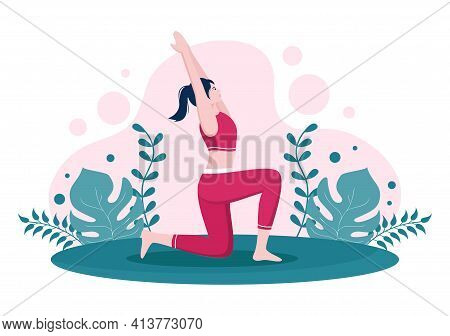 Yoga Or Meditation Practices Aim For Health Benefits Of The Body To Control Thoughts, Emotions, Ince