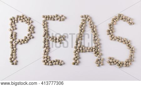 Word Peas Made From Mature Garden Peas