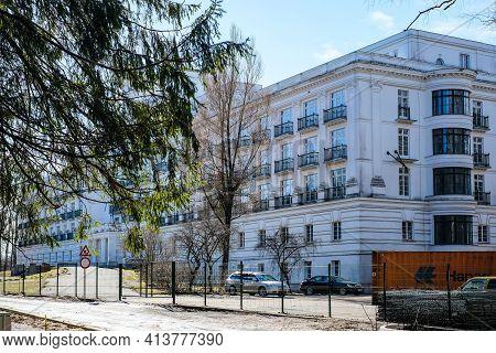 Jurmala, Latvia: March 22, 2021: Park Hotel Kemeri, Former Sanatorium Kemeri In Jurmala, Latvia