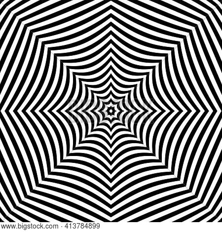 Abstract Symmetrical Lines Pattern And Texture. Vector Art.