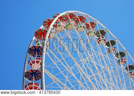 "The Floral Giant Wheel  In The Theme Park  ""vienna  Prater"
