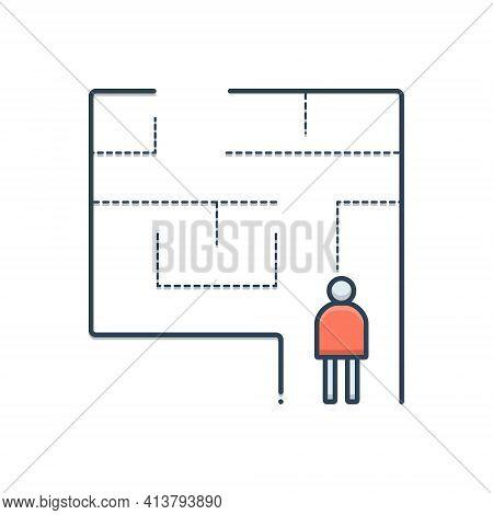 Color Illustration Icon For Evacuation-plan Evacuation  Exit  Egress  Vent