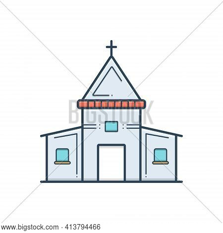 Color Illustration Icon For Holy Place Stead Collocation Religion Worship Sacred