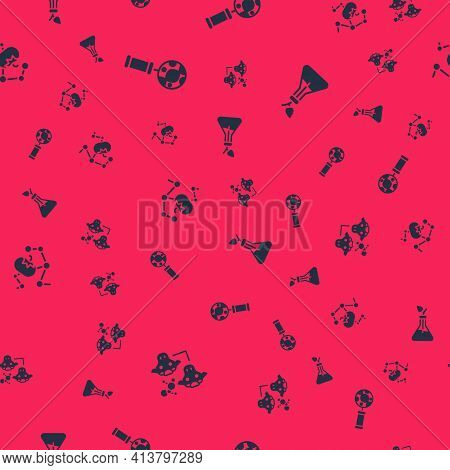 Set Cloning, Dna Research, Search, Genetically Modified Food And Plant Breeding On Seamless Pattern.