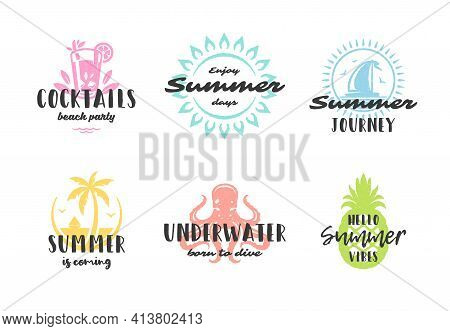 Summer Holiday Typography Inspirational Quotes Or Sayings Design