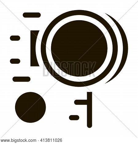 Folk Ball Game Glyph Icon Vector. Folk Ball Game Sign. Isolated Symbol Illustration