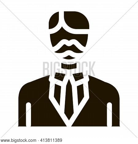 Parent In Costume Glyph Icon Vector. Parent In Costume Sign. Isolated Symbol Illustration