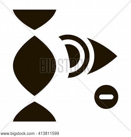 High Chance Of Eye Disease Through Genetic Linkages Glyph Icon Vector. High Chance Of Eye Disease Th