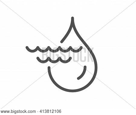 Hydroelectricity Line Icon. Hydroelectric Energy Type Sign. Vector