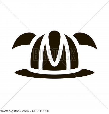 Football Fan Hat Glyph Icon Vector. Football Fan Hat Sign. Isolated Symbol Illustration