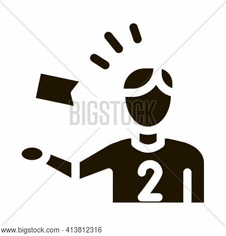 Check Mark Fan Glyph Icon Vector. Check Mark Fan Sign. Isolated Symbol Illustration