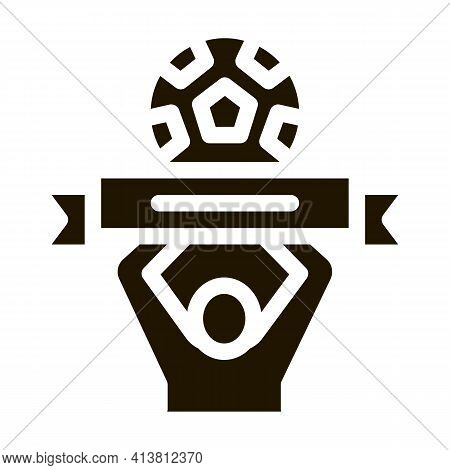 Soccer Above All Glyph Icon Vector. Soccer Above All Sign. Isolated Symbol Illustration