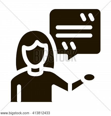 Actor Woman With Replica Glyph Icon Vector. Actor Woman With Replica Sign. Isolated Symbol Illustrat