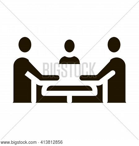 Third Party Discussion Glyph Icon Vector. Third Party Discussion Sign. Isolated Symbol Illustration