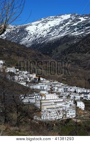 White village, Trevelez, Andalusia, Spain.