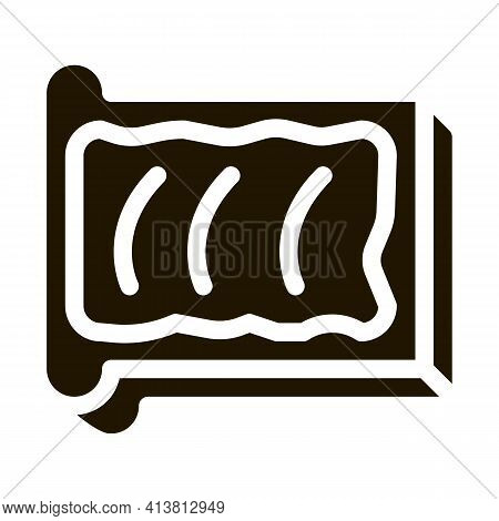 Toast With Butter Glyph Icon Vector. Toast With Butter Sign. Isolated Symbol Illustration