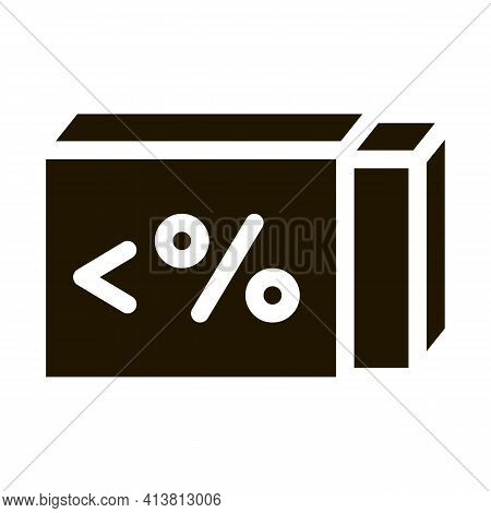 Low Percentage Butter Glyph Icon Vector. Low Percentage Butter Sign. Isolated Symbol Illustration