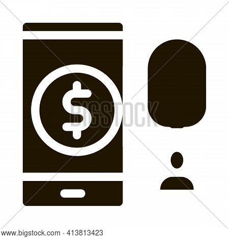 Fingerprint Access To Accounts Glyph Icon Vector. Fingerprint Access To Accounts Sign. Isolated Symb