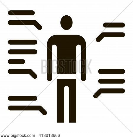 Study Of Human Functions Glyph Icon Vector. Study Of Human Functions Sign. Isolated Symbol Illustrat