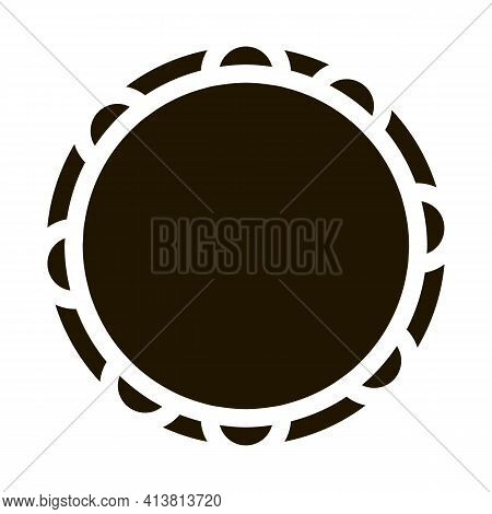 Painted Clay Plate Glyph Icon Vector. Painted Clay Plate Sign. Isolated Symbol Illustration