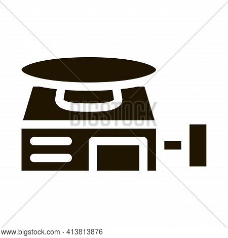 Potter S Wheel Glyph Icon Vector. Potter S Wheel Sign. Isolated Symbol Illustration