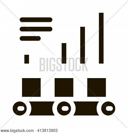Detailed Graph Statistics Glyph Icon Vector. Detailed Graph Statistics Sign. Isolated Symbol Illustr