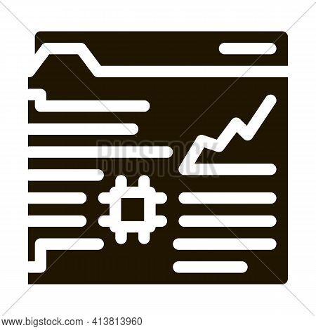 Robotic Process Automation Glyph Icon Vector. Robotic Process Automation Sign. Isolated Symbol Illus