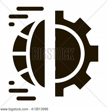 Automated Internet Settings Glyph Icon Vector. Automated Internet Settings Sign. Isolated Symbol Ill