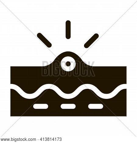 Appearance Of Acne Glyph Icon Vector. Appearance Of Acne Sign. Isolated Symbol Illustration