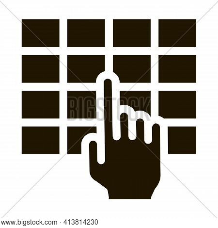 Touch Panel Control Glyph Icon Vector. Touch Panel Control Sign. Isolated Symbol Illustration