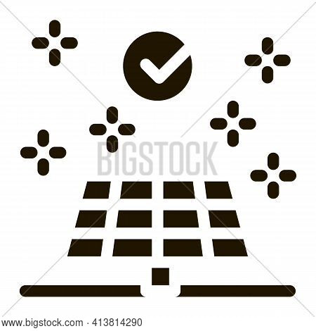 Long Battery Life Glyph Icon Vector. Long Battery Life Sign. Isolated Symbol Illustration