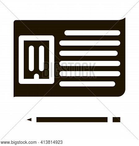Written Building Information Model Glyph Icon Vector. Written Building Information Model Sign. Isola