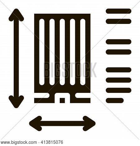 Determination Of Area Construction Glyph Icon Vector. Determination Of Area Construction Sign. Isola