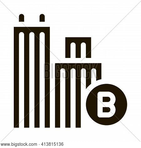 Built Residential Buildings Glyph Icon Vector. Built Residential Buildings Sign. Isolated Symbol Ill