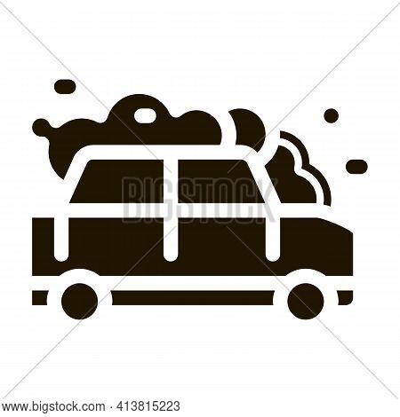 Manual Car Wash Glyph Icon Vector. Manual Car Wash Sign. Isolated Symbol Illustration