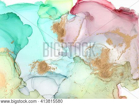 Alcohol Ink Mix. White Marble Illustration. Sophisticated Art Paper. Bright Wave Effect. Acrylic Ink