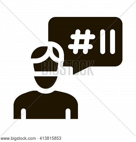 Masked Man Requirements Glyph Icon Vector. Masked Man Requirements Sign. Isolated Symbol Illustratio