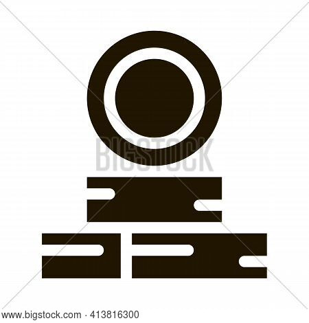 Tire Repair Point Glyph Icon Vector. Tire Repair Point Sign. Isolated Symbol Illustration