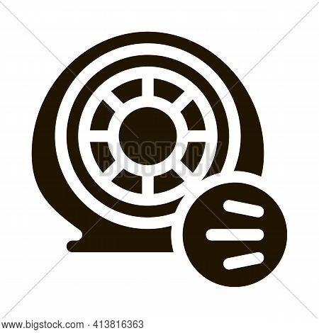 Tire Air Vent Glyph Icon Vector. Tire Air Vent Sign. Isolated Symbol Illustration