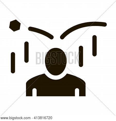 Collapse Of Criticism Per Person Glyph Icon Vector. Collapse Of Criticism Per Person Sign. Isolated