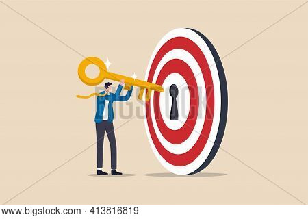 Key To Success And Achieve Business Target, Kpi, Career Achievement Or Secret For Success In Work Co