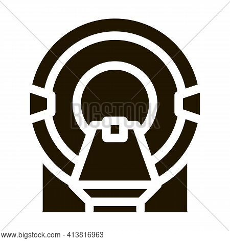 Place In Solarium Glyph Icon Vector. Place In Solarium Sign. Isolated Symbol Illustration