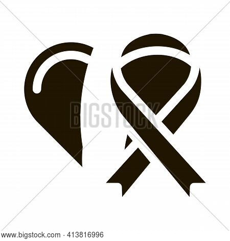 Cancer Treatment Vaccine Icon Glyph Icon Vector. Cancer Treatment Vaccine Icon Sign. Isolated Symbol